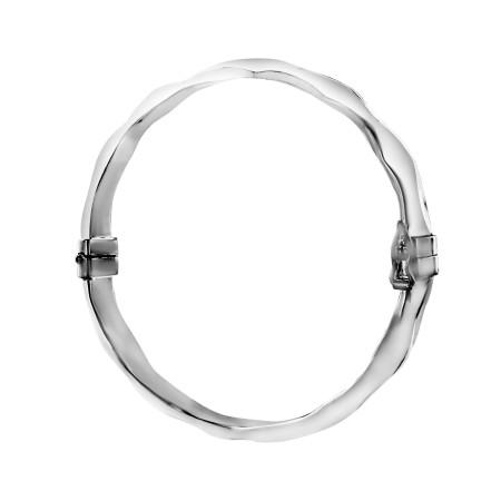 Bracelet rigide Argent 925 ovale facetté