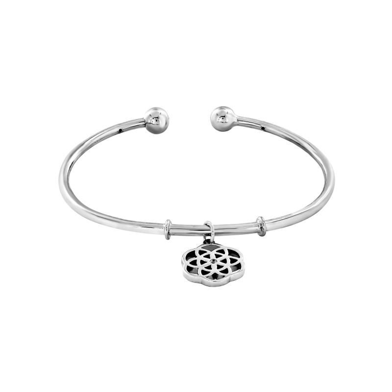 Bracelet rigide Argent 925 mosaïque oxyde de zirconium