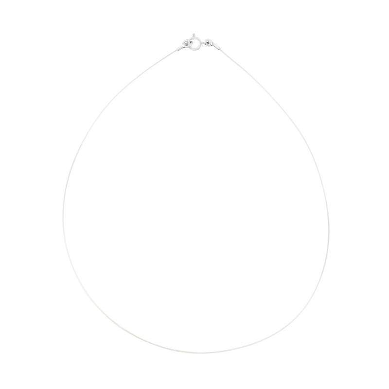 Collier transparent ajustable