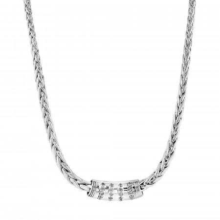 Palm tree pendant mesh necklace
