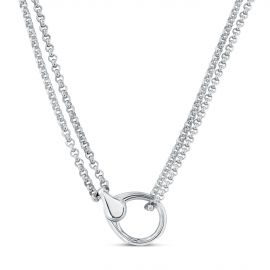 Small carabiner fastener necklace