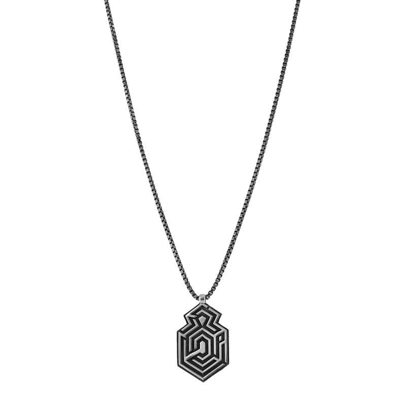 "Sterling silver ""MAZE"" pendant"