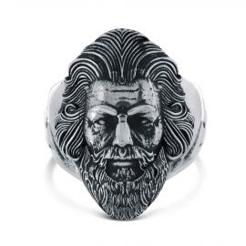Sterling silver zeus ring