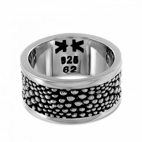 Sterling silver galuchat ring