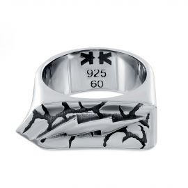 Sterling silver zeus thunder ring