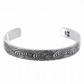 "Bracelet rigide Homme Argent 925 ""Boys in the hoods"""