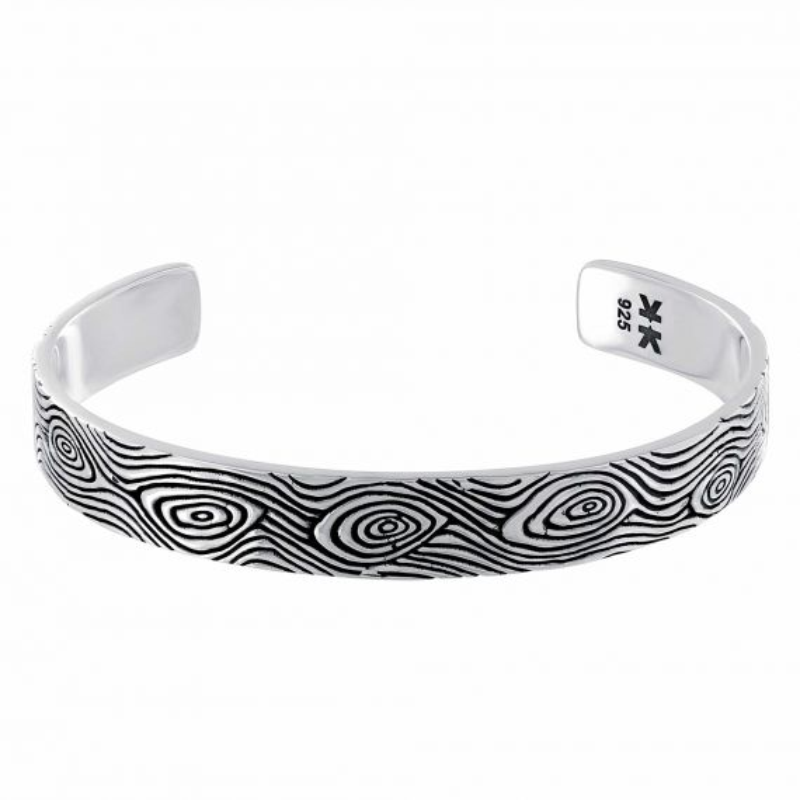 "Sterling silver ""Boys in the hoods"" bangle bracelet"
