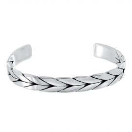 "Sterling silver ""Dragon bone"" bangle bracelet"