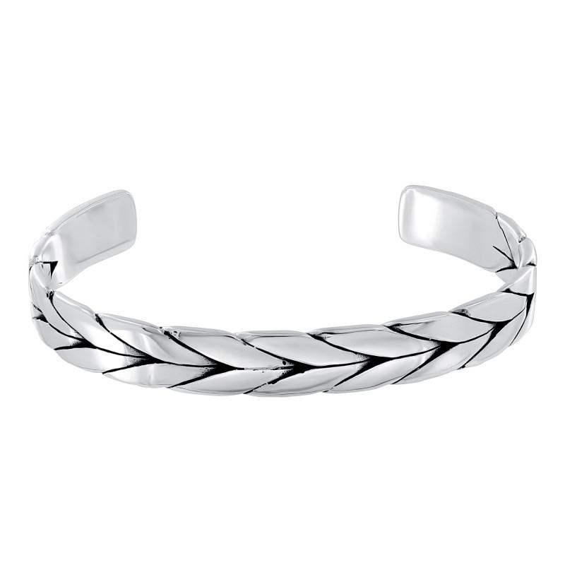 "Bracelet rigide Homme Argent 925 ""Dragon Bone"""
