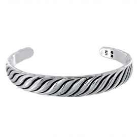 "Sterling silver ""IKKU CLASSIC"" bangle bracelet"