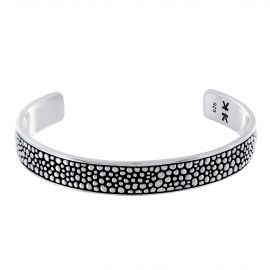 "Sterling silver ""Galuchat"" bangle bracelet"