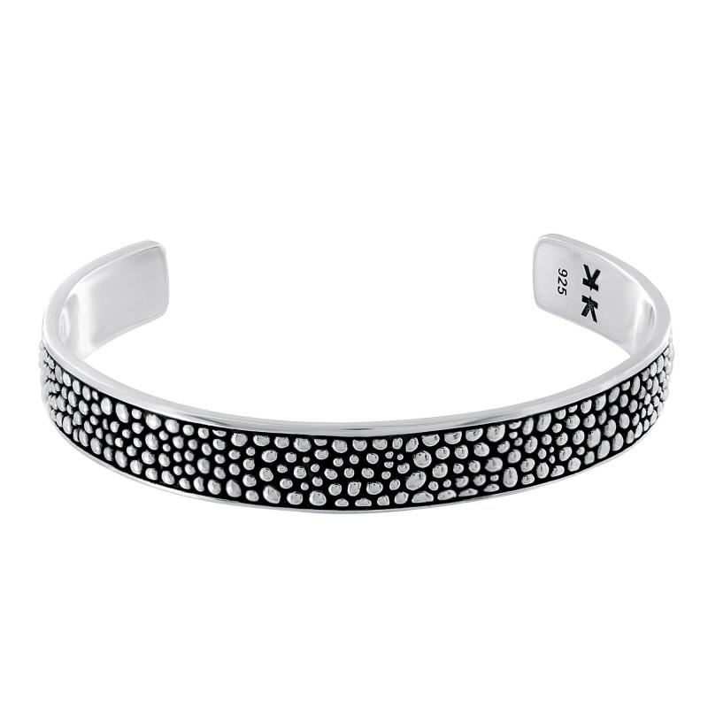 """Sterling silver """"Galuchat"""" bangle bracelet"""