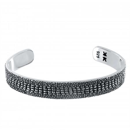 "Bracelet rigide Homme Argent 925 ""Crocodile"""