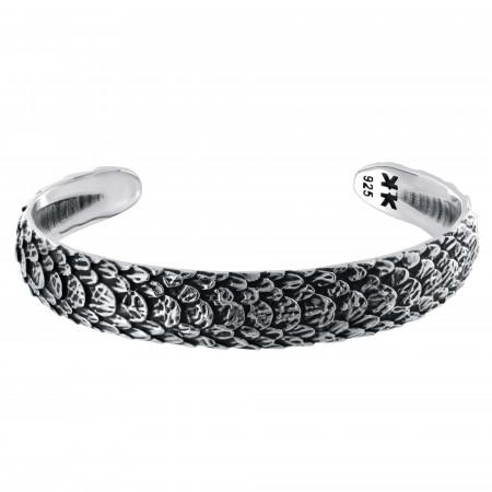 """Bracelet rigide Homme Argent 925 """"Snake"""""""