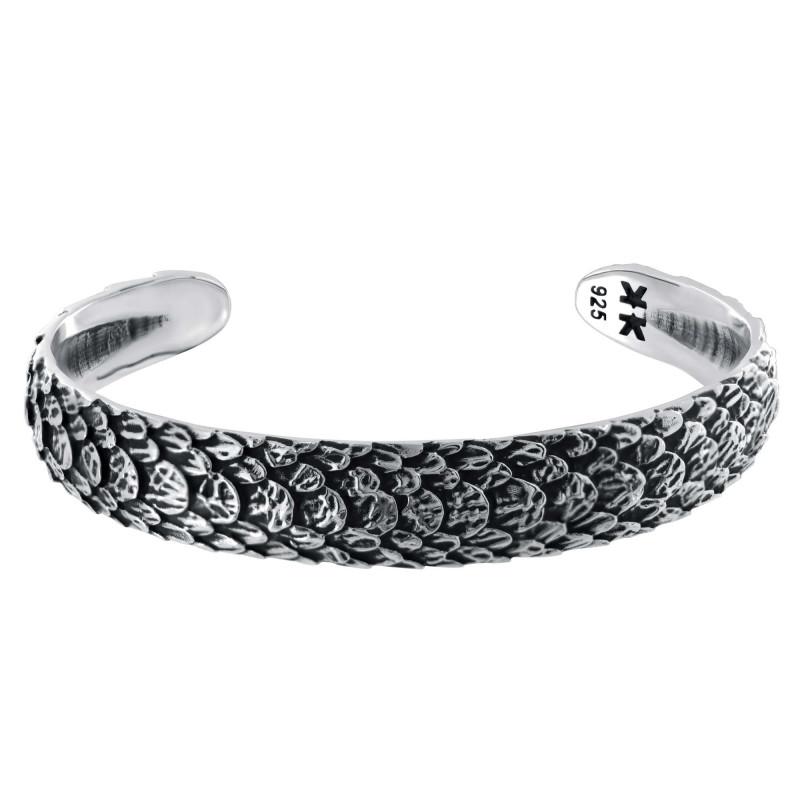 "Sterling silver ""Snake"" bangle bracelet"