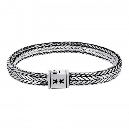Sterling silver Balinese link bracelet