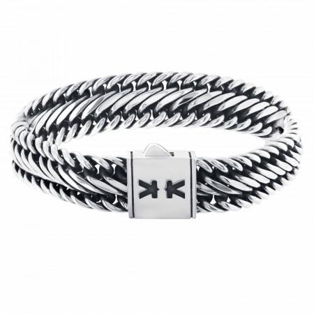 Sterling silver oxidized balinese bracelet