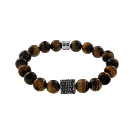 """Beads boys"" tiger eye stone croco style bracelet"