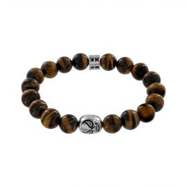 """Beads boys"" tiger eye stone macho libre bracelet"