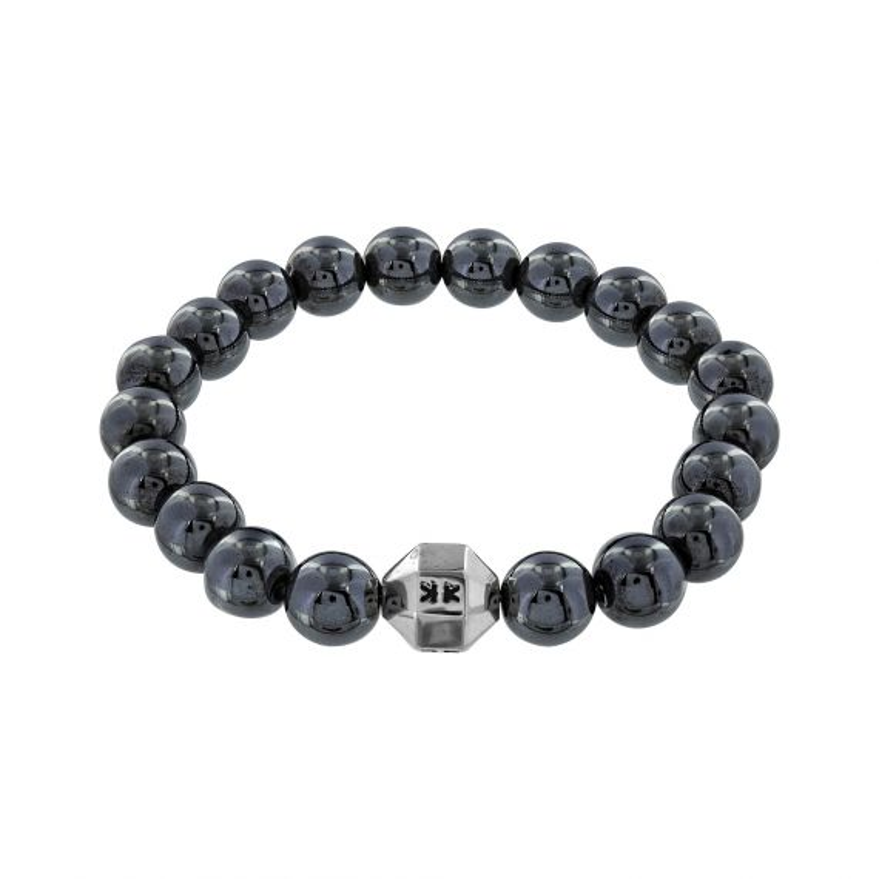 """Beads boys"" hematite stone bracelet"