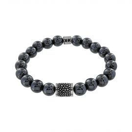 "Bracelet ""Beads boys"" hématite Silver stingray"