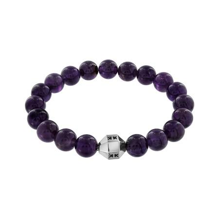 "Bracelet ""Beads boys"" améthyste"