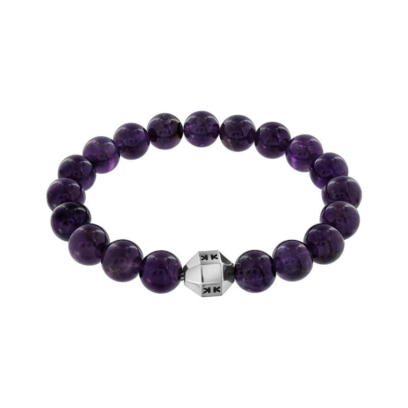 """Beads boys"" amethyste stone bracelet"