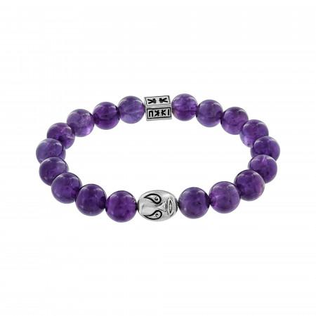 """Beads boys"" amethyste stone Macho libre bracelet"