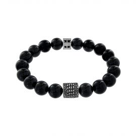 """Beads boys"" onyx stone Stingray silver bracelet"