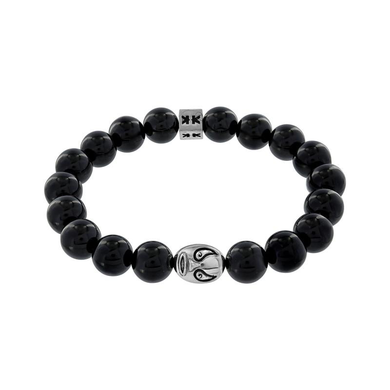 """Beads boys"" onyx stone Macho libre bracelet"