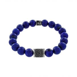 """Beads boys"" lapis stone Stingray silver bracelet"