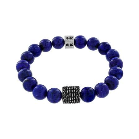 "Bracelet ""Beads boys"" lapis Croco style"