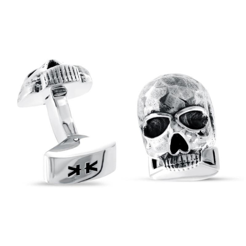 """Sterling silver """"Skulls"""" cufflinks"""