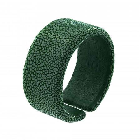 Bracelet galuchat vert