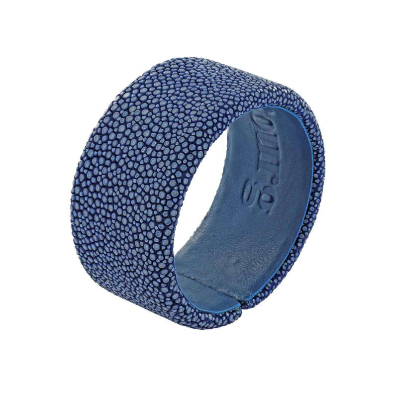 Bracelet galuchat bleu