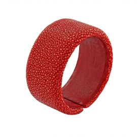 Red shagreen bracelet