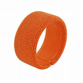 BRACELET GALUCHAT ORANGE 30MM