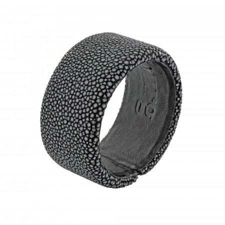 Black shagreen bracelet