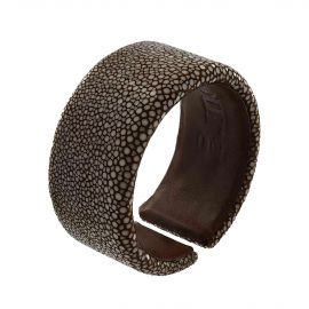 Bracelet galuchat marron