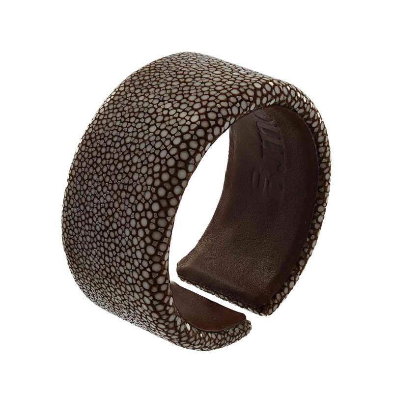 Brown shagreen bracelet