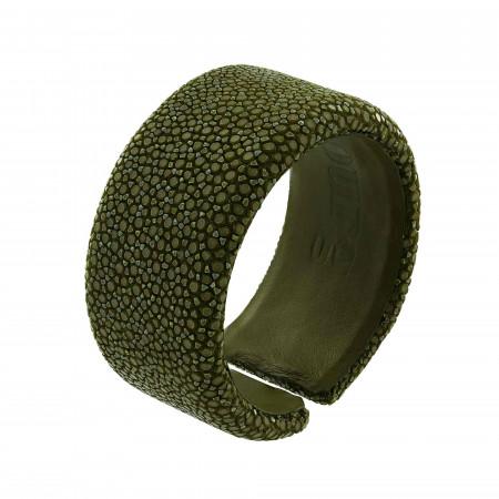 Bracelet galuchat vert kaki
