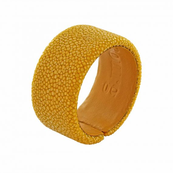 Yellow shagreen bracelet