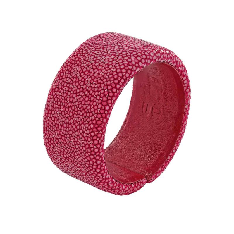 Bracelet galuchat fuchsia