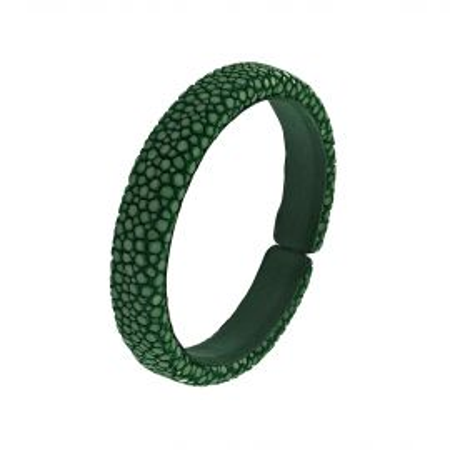 Green shagreen bracelet