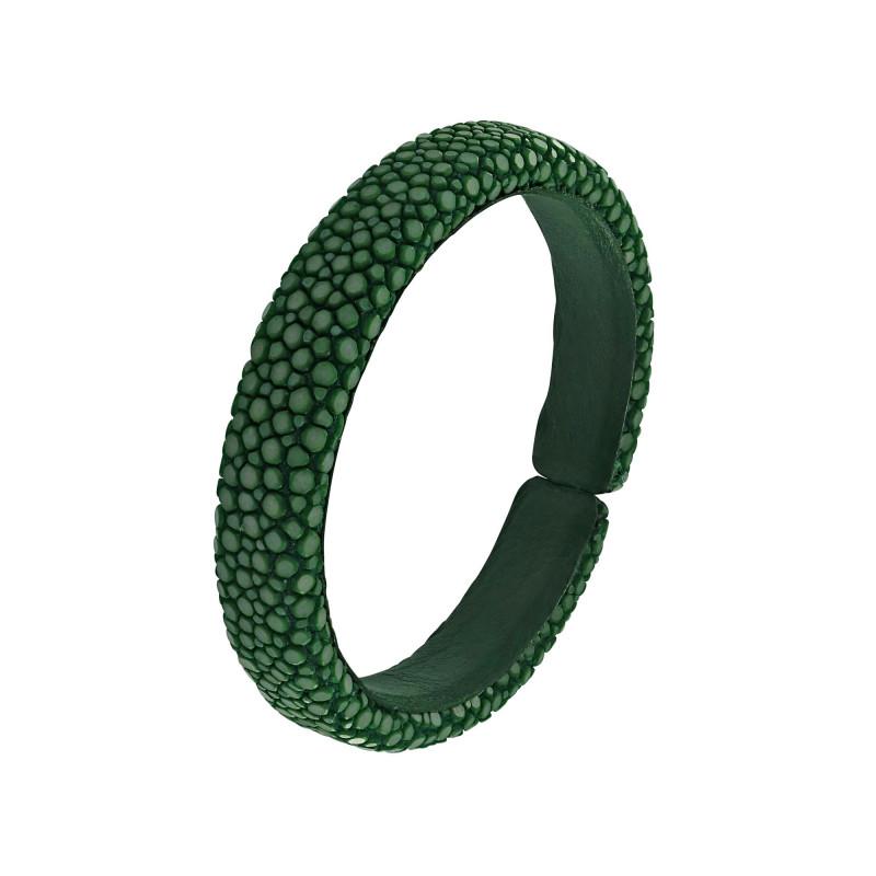 Bracelet galuchat vert 10