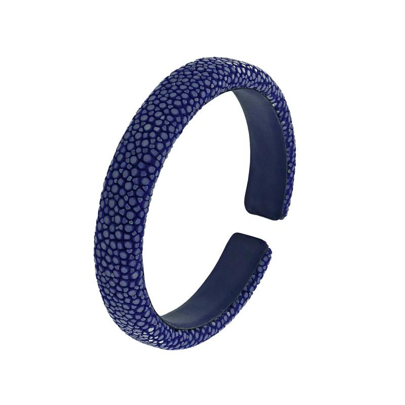 Bracelet galuchat bleu 10