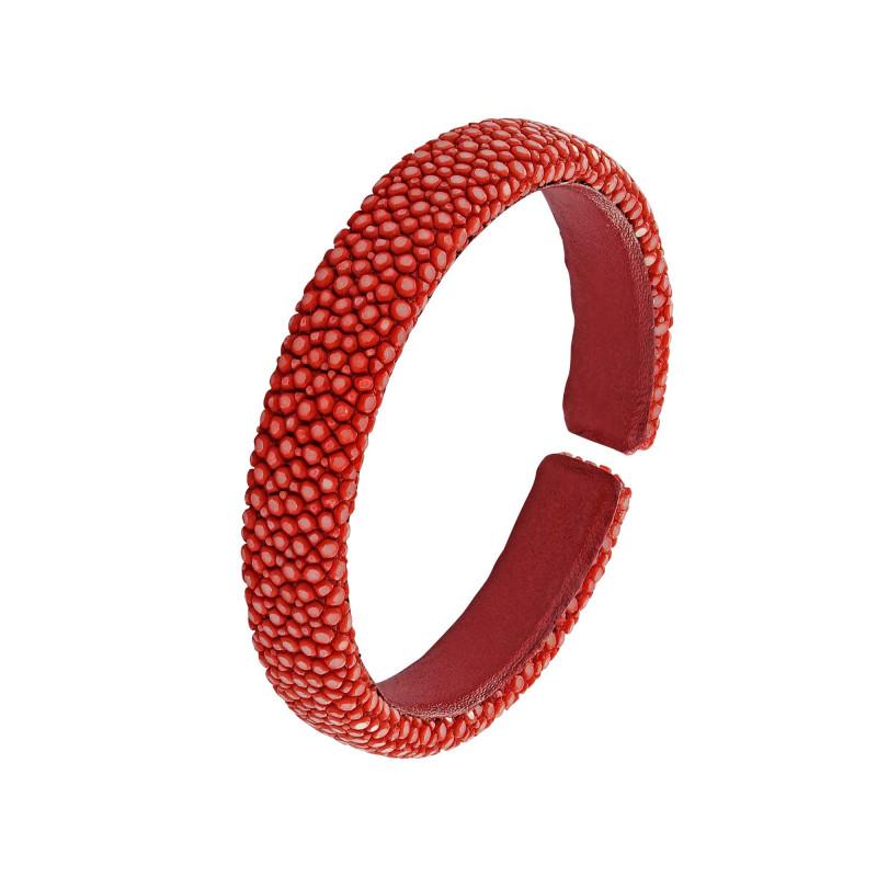 Bracelet galuchat rouge 10