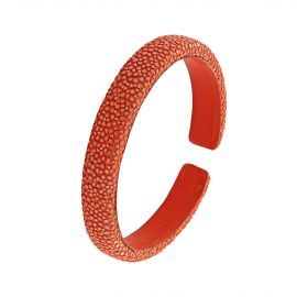 Orange shagreen bracelet