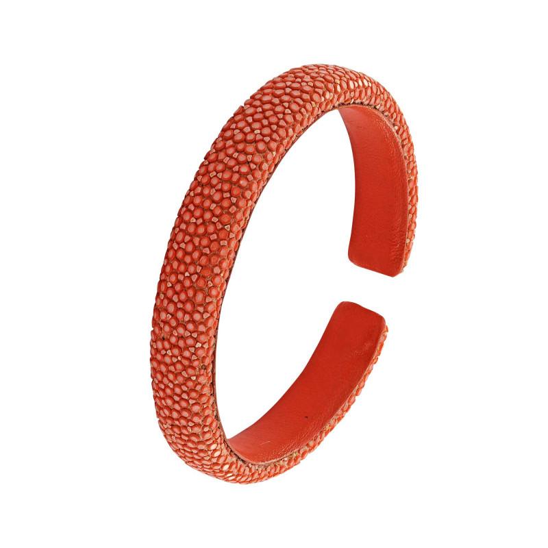 Bracelet galuchat orange 10