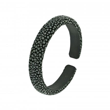 Bracelet galuchat gris 10